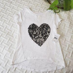🌿BOGO 1/2 OFF🌿 Silver Heart Top